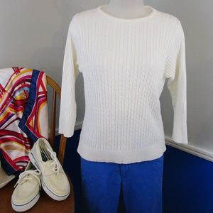 Vintage Cotton Cable Knit Sweater